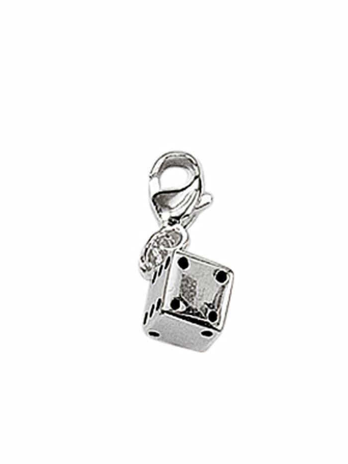 1001 Diamonds 1001 Diamonds Damen Silberschmuck 925 Silber Charms Anhänger Würfel, silber