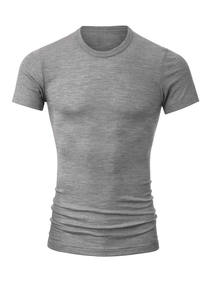 Calida Shirt aus Wolle und Seide STANDARD 100 by OEKO-TEX zertifiziert, platin mele