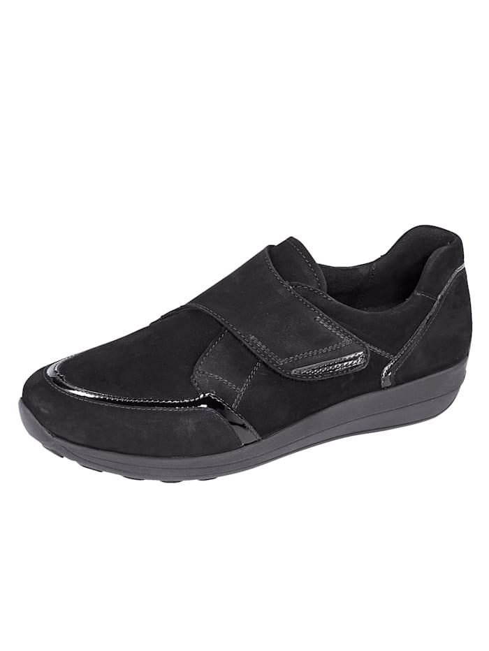 Ara Klittenbandschoen met gepolsterde rand, Zwart