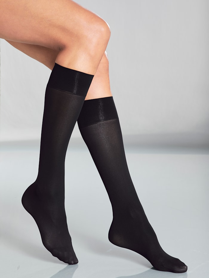 Esda Chaussettes avec large bordure confortable, Noir