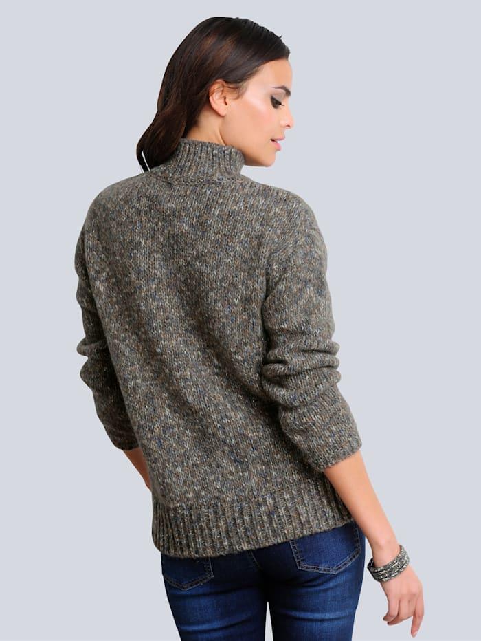 Pullover mit Melange-Effekt