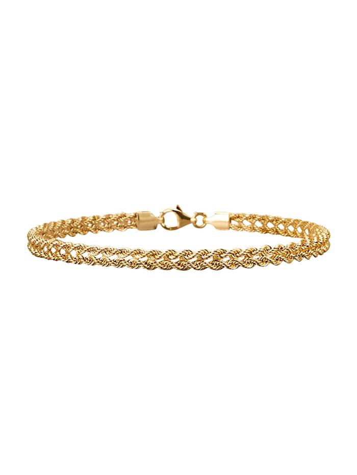 Amara Or Bracelet maille cordon en or jaune 585, Coloris or jaune