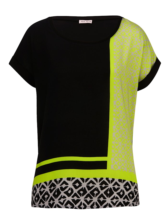 Shirt im exklusivem Alba Moda Print