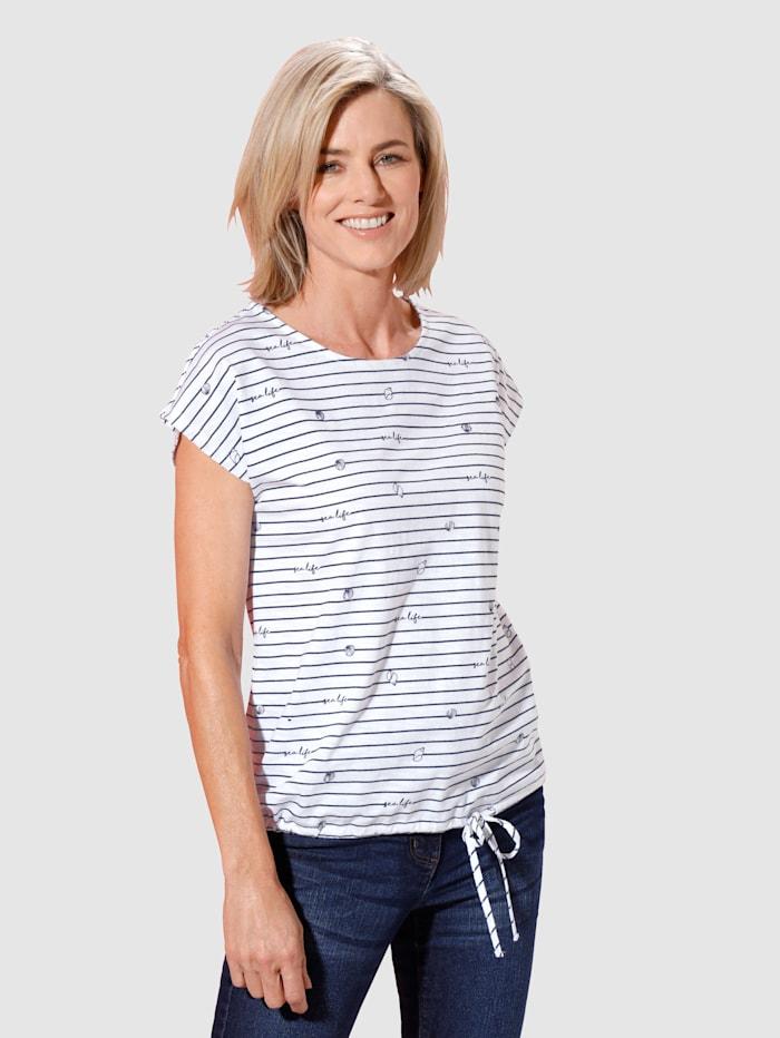 Shirt mit Bändchendetail an der Seite