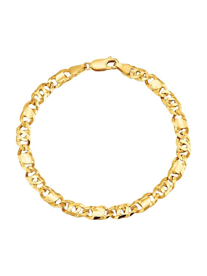 Rebhuhn-Armband in Gelbgold 375, Gelbgoldfarben