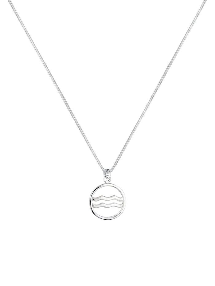 Halskette Sternzeichen Wassermann Astro 925 Sterling Silber