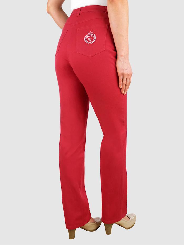 Paola Jeans i normalstorlekar & kortstorlekar, Röd