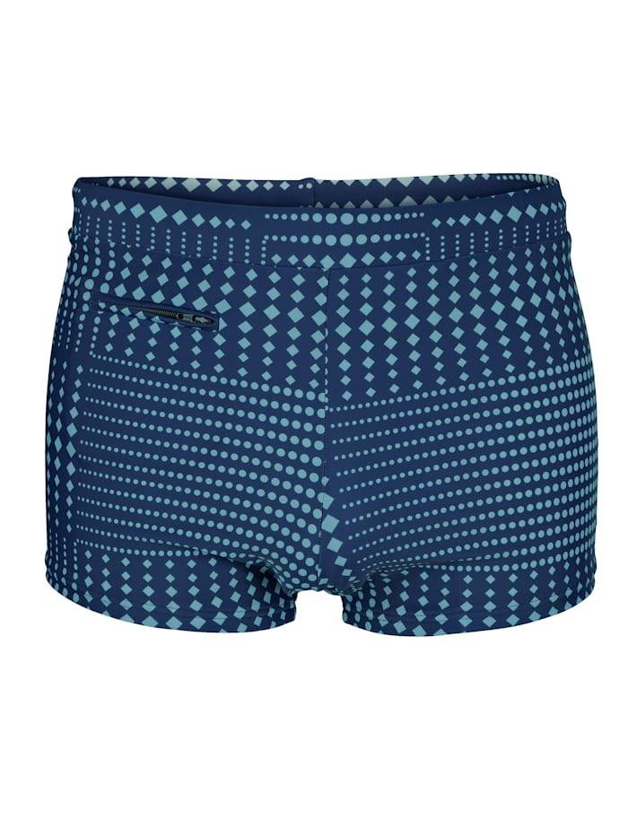 Maritim Short de bain à poche zippée, Marine/Bleu