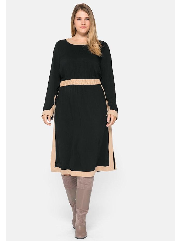 Sheego Sheego Kleid mit Kontrastdetails, schwarz