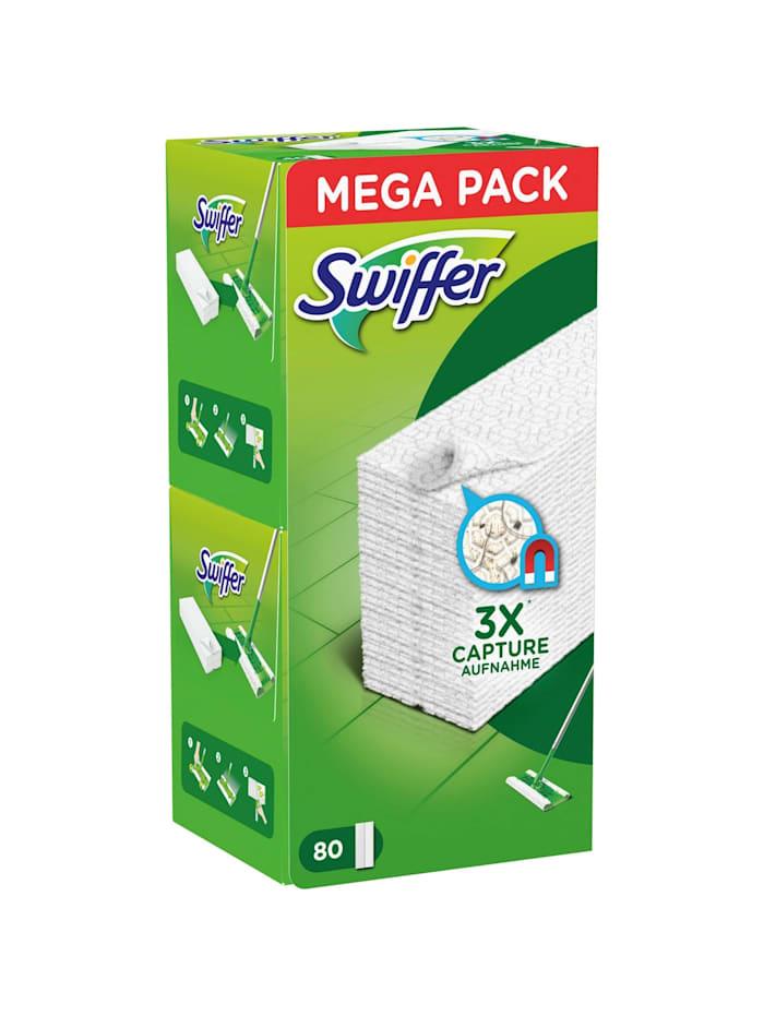 Swiffer Reinigungstücher Trockene Bodentücher Nachfüllpackung, 80 Stück, Weiß
