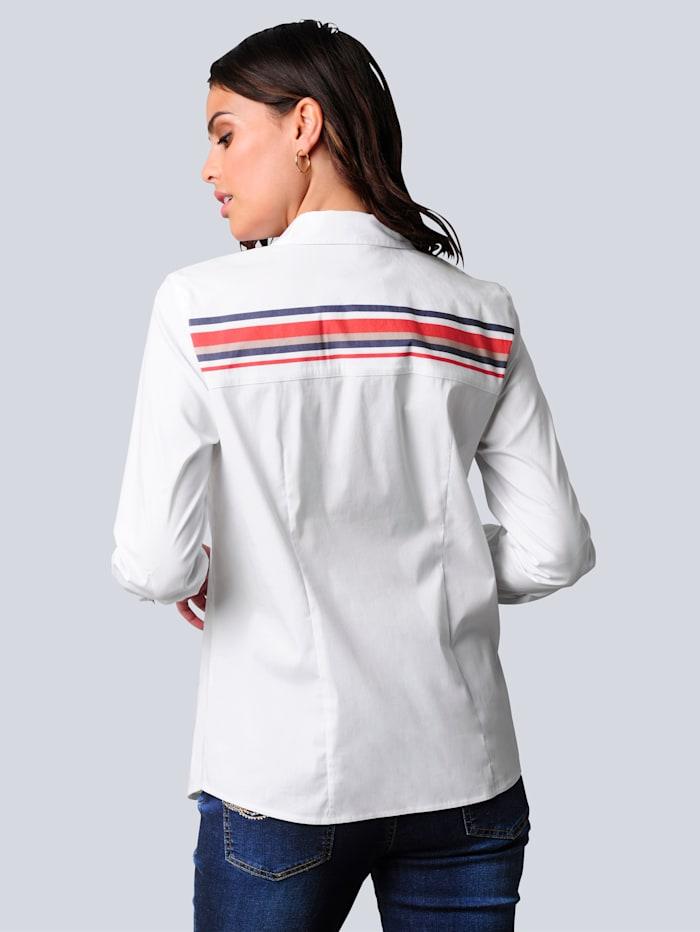 Bluse mit effektvoller Rückenpasse