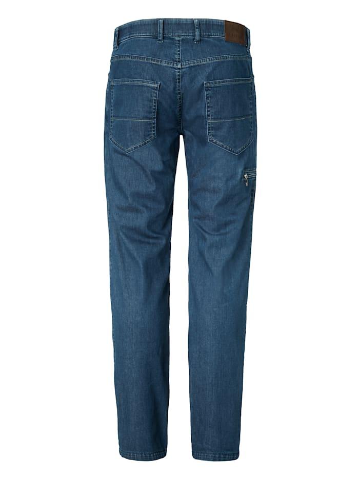 Fahrrad-Jeans mit Reflektorband