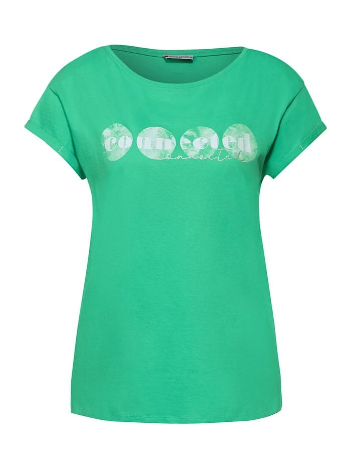 Street One T-Shirt mit Partprint, yucca green