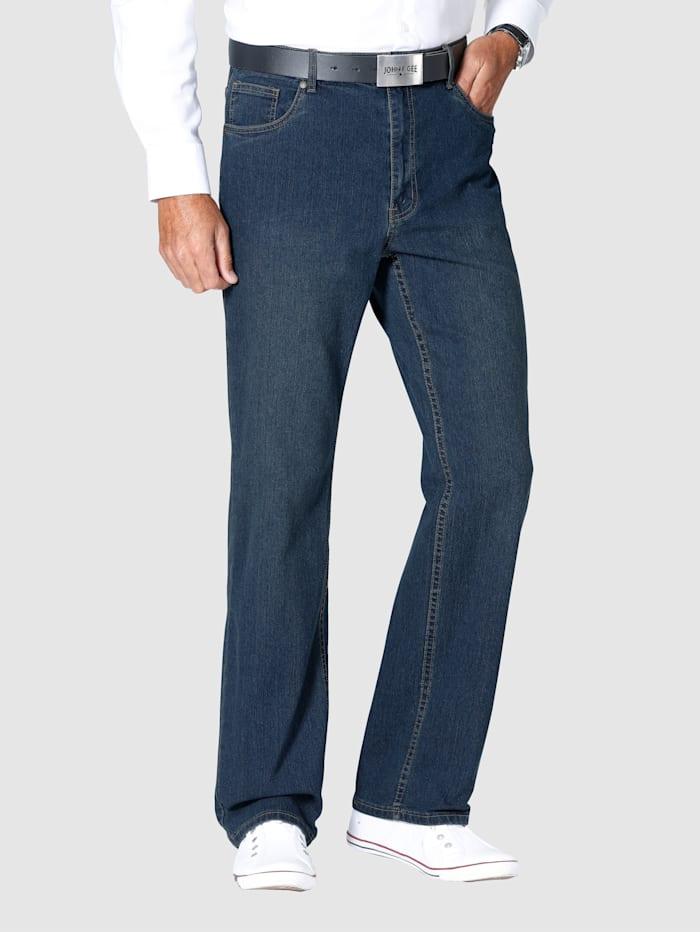 Roger Kent 5-Pocket Jeans mit Elasthan, Blue stone