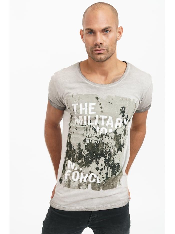 trueprodigy T-Shirt Dane mit coolem Frontprint, 5203-Darkgrey