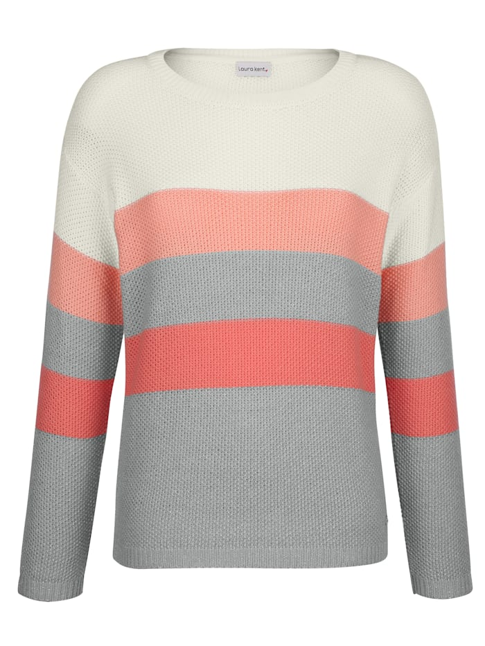 Pull-over à rayures bloc tendance