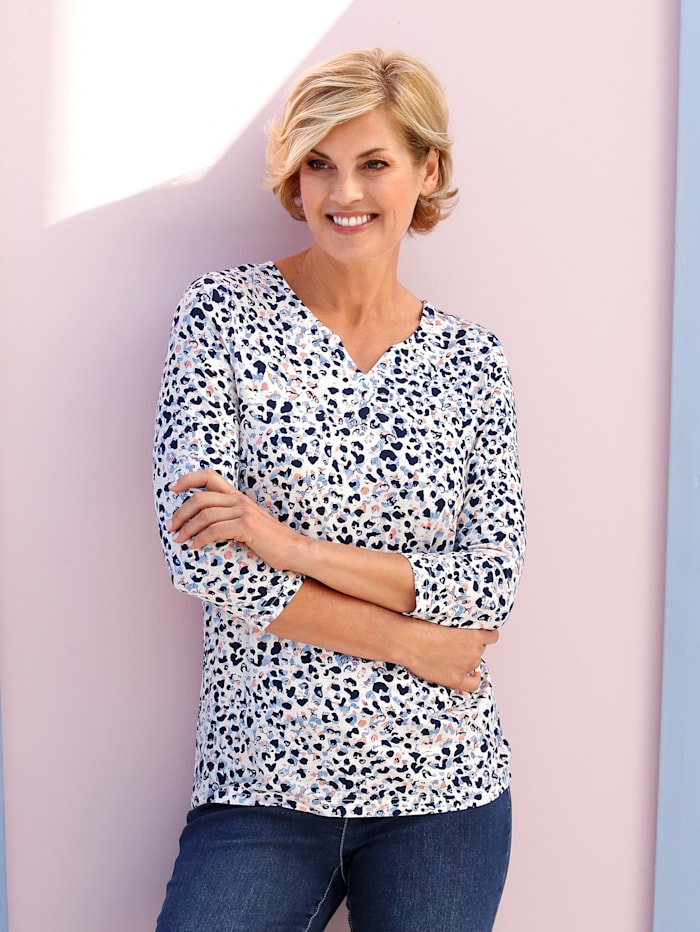 Paola Shirt met mooie print, Wit