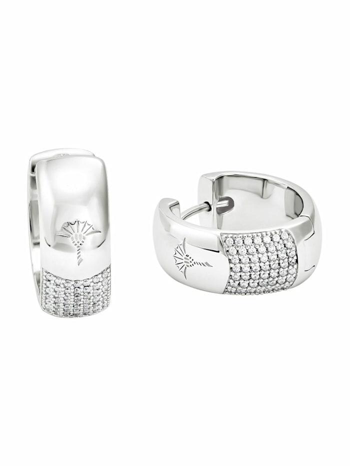 JOOP! Creolen für Damen, Sterling Silber 925, Motiv, Silber