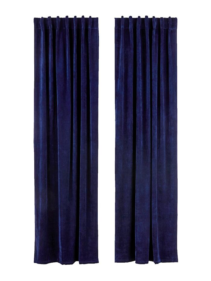 IMPRESSIONEN living Vorhang-Set, 2-tlg., dunkelblau