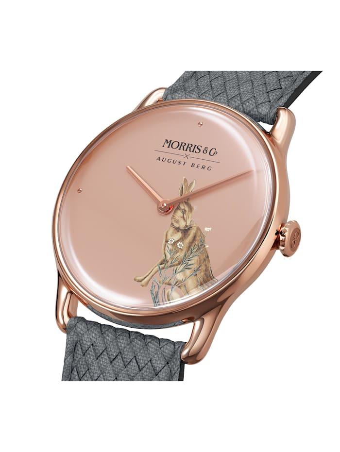 Uhr MORRIS & CO Rose Gold Grey Perlon 38mm