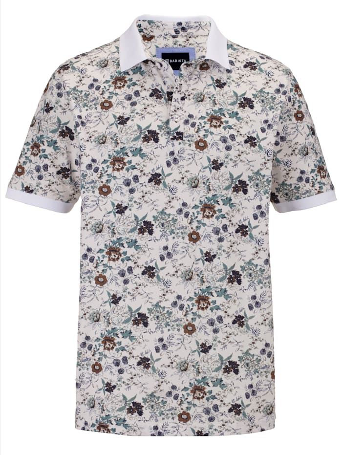 BABISTA Poloshirt mit angesagtem Druckmuster, Beige/Salbeigrün