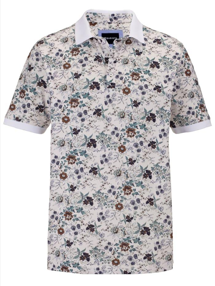 BABISTA Poloshirt met trendy animalprint, Beige/Salie