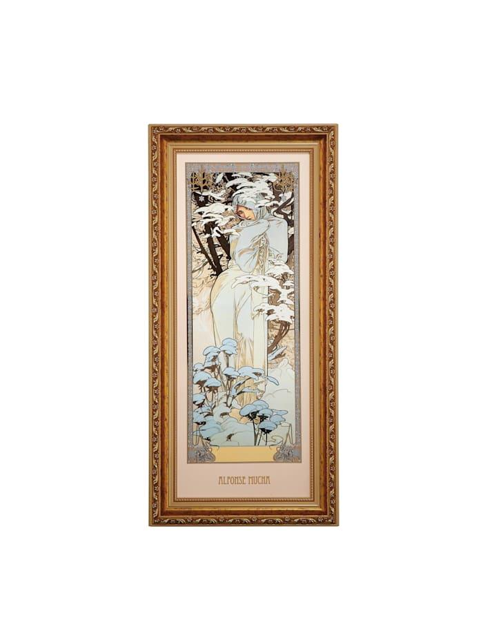 Goebel Goebel Wandbild Alphonse Mucha - Winter 1900, Mucha - Winter