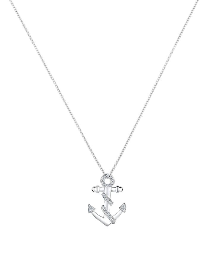 Halskette Anker Meer Kristalle 925 Silber