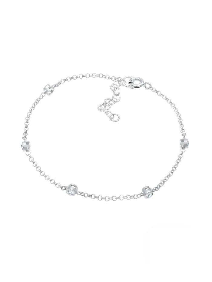Armband Zart Funkelnd  Kristalle 925 Silber