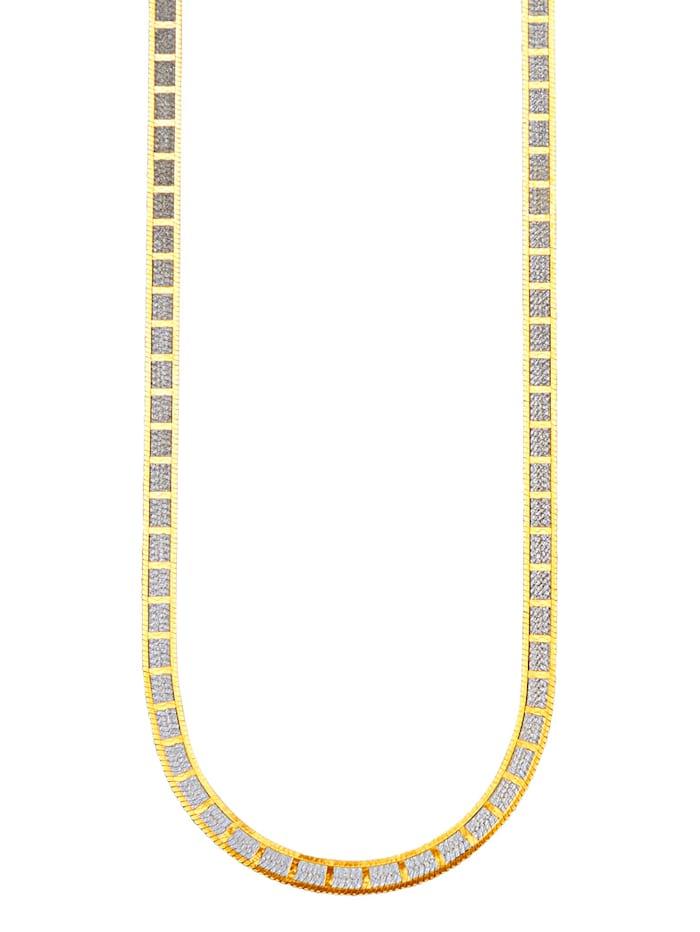 KLiNGEL Collier aus Silber, Gelbgoldfarben