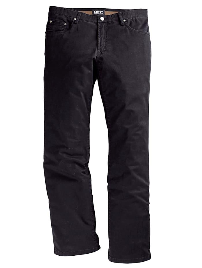Men Plus Nohavice špeciálny strih, Čierna