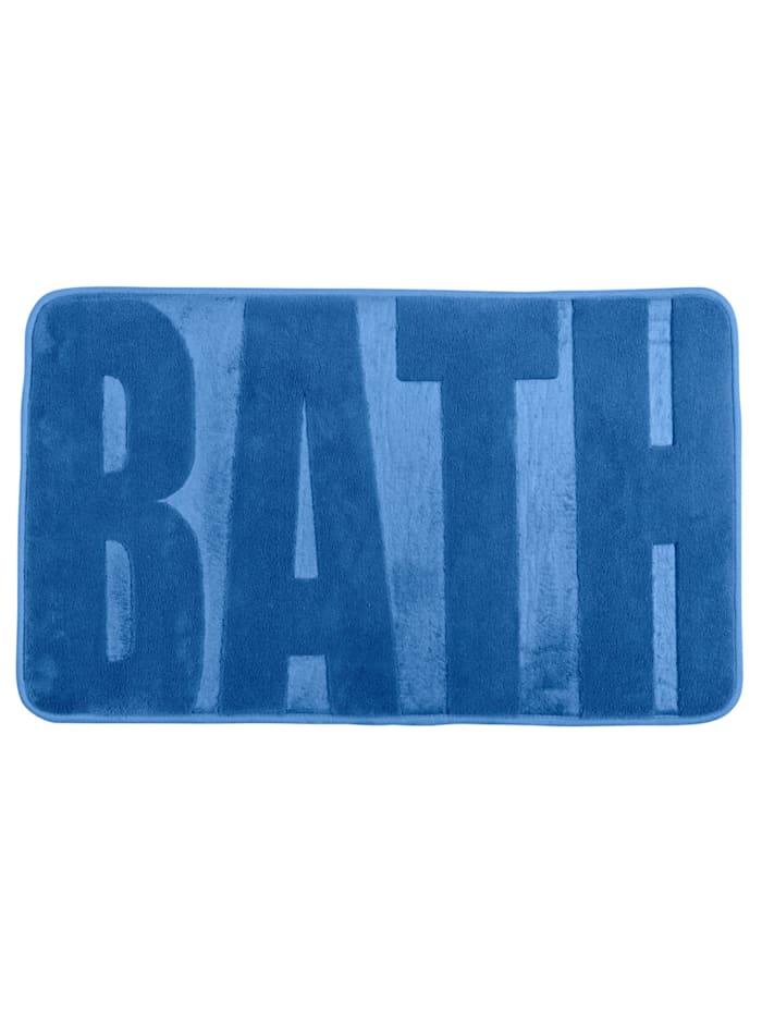 Wenko Badteppich Memory Foam Bath, Fjord Blue, 50 x 80 cm, Oberfläche: Blau, Füllung, Rückseite