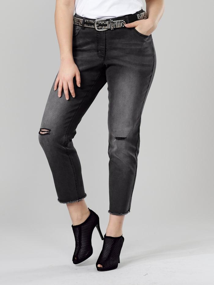 Angel of Style Jeans -Carla-, Koksgrå