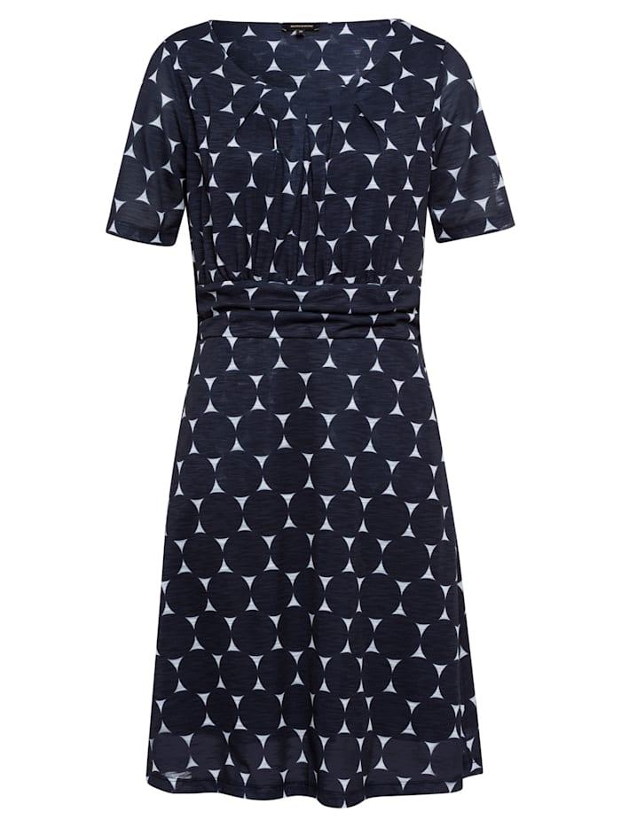 MORE & MORE Jerseykleid, XL-Dots, marine/weiß, marine