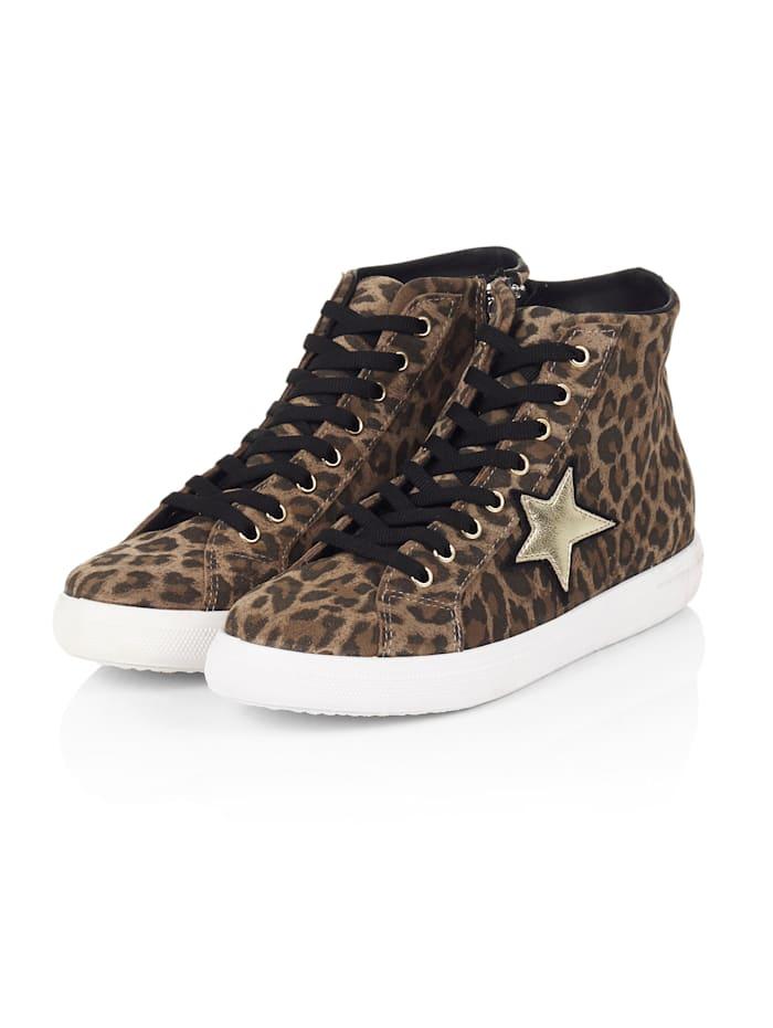 SIENNA Hightop Sneaker, Braun