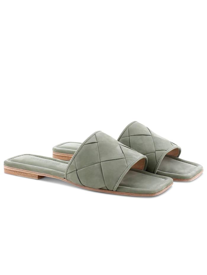 Kennel & Schmenger Pantolette mit Steppung, Khaki