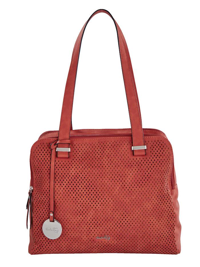 Taschenherz Shopper mit Perforation, rostfarben