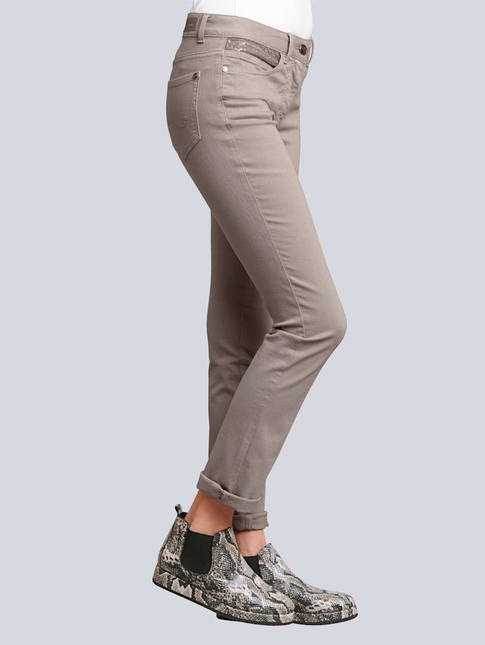 Jeans met luxueuze paillettenversiering
