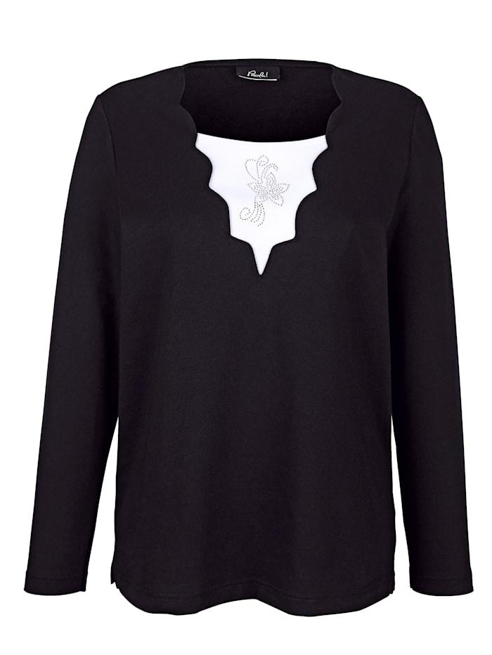 Sweatshirt mit Wellenkanten am Ausschnitt