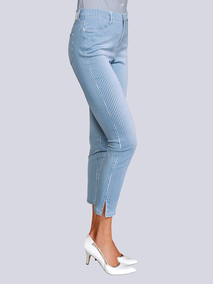 Jeans mit Streifen im allover