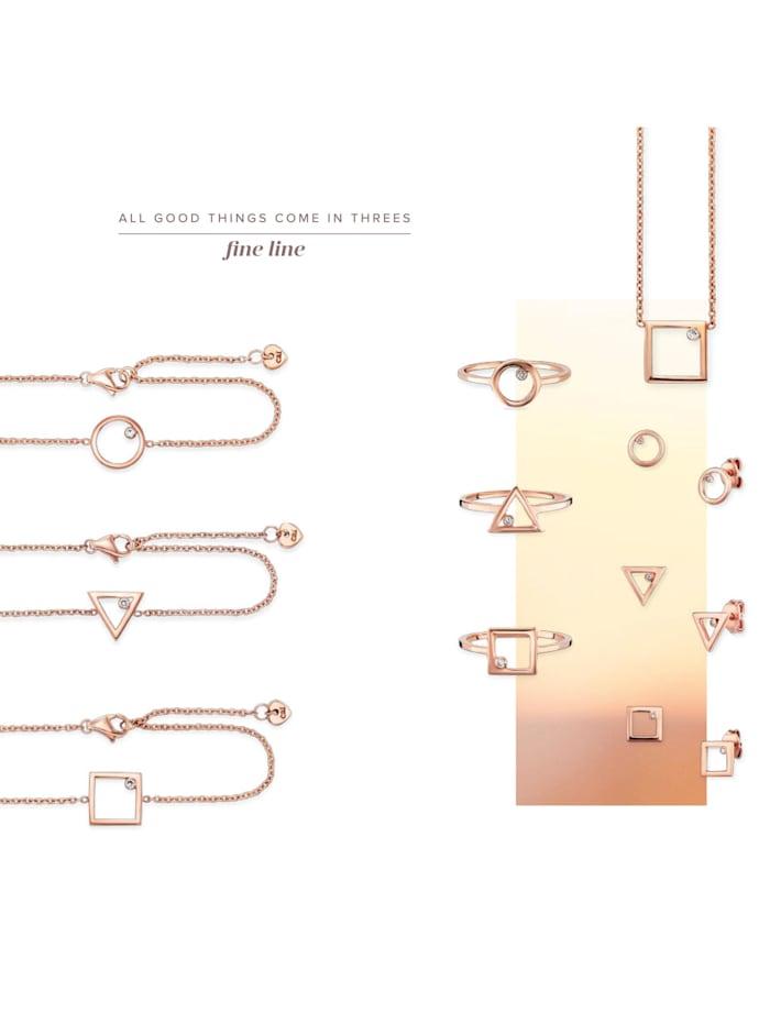 Ring 925/- Sterling Silber Zirkonia weiß rotvergoldet 925/- Sterling Silber