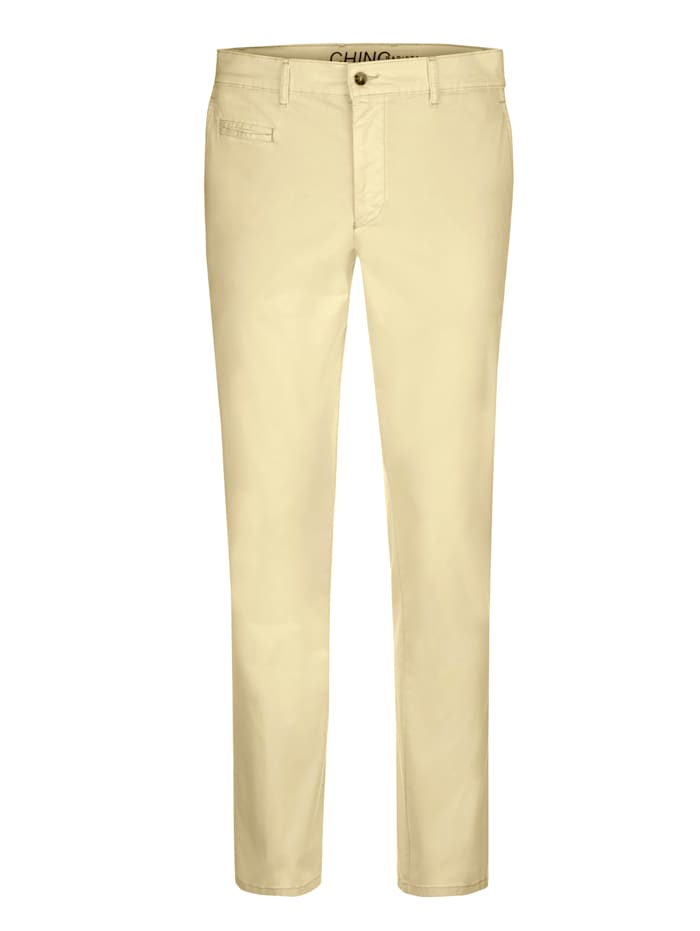BABISTA Pantalon chino en coton PIMA, Jaune