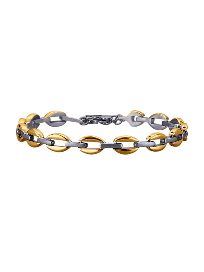 Bracelet de finition satinée et brillante, Coloris or jaune