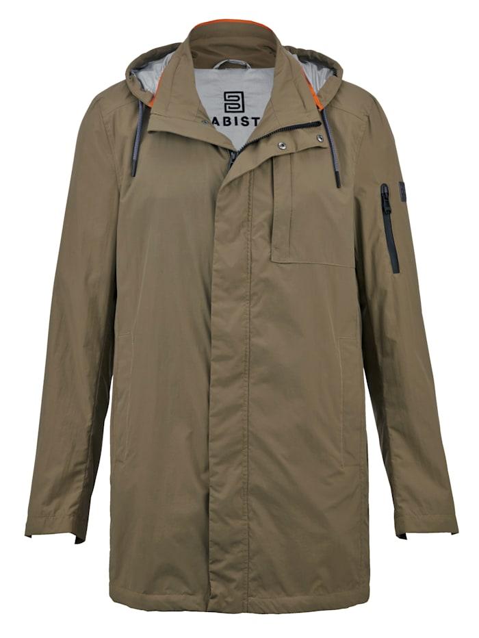 Babista Premium Kabát s praktickým vreckom na odloženie, Khaki