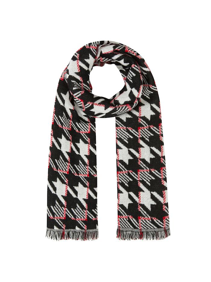 Codello Ultrasofter Glencheck-Schal mit Wolle, off-white