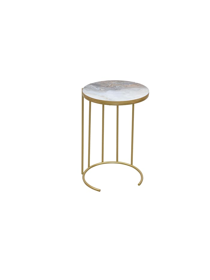 Möbel-Direkt-Online Beistelltisch Ohara, Gold