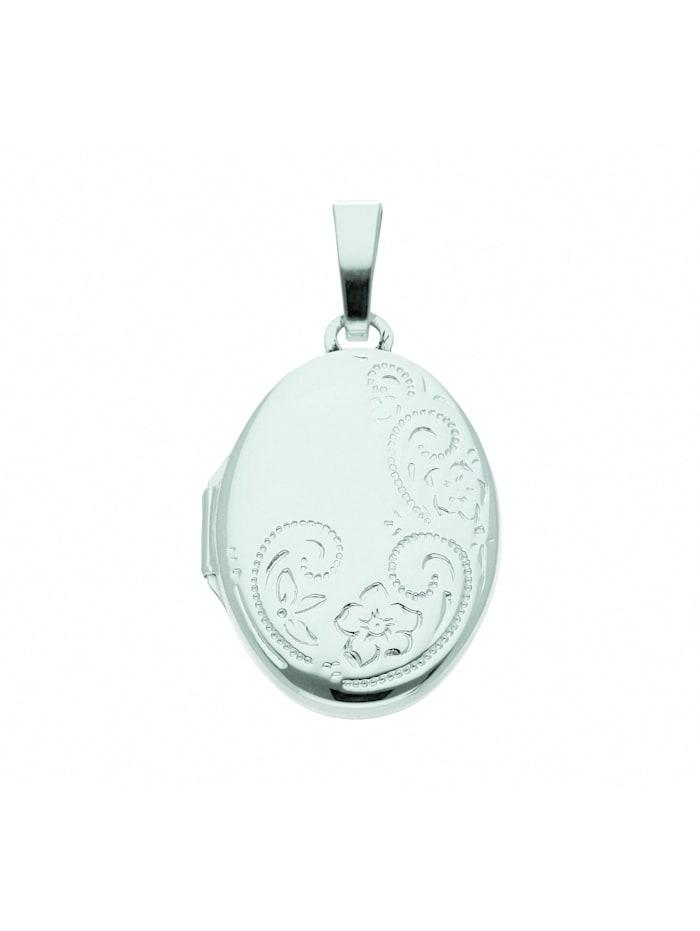 1001 Diamonds Damen Silberschmuck 925 Silber Medaillon Anhänger, silber