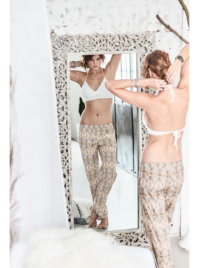 Pyjama-Hose mit Ethno-Druck