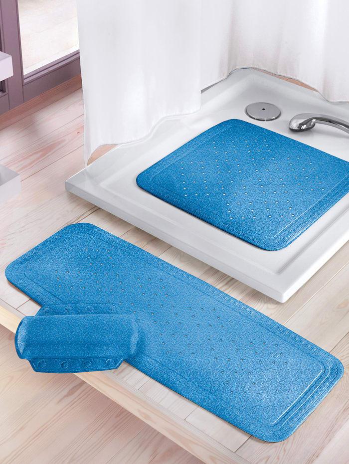 Kleine Wolke Badekarmatte -Arosa-, blå