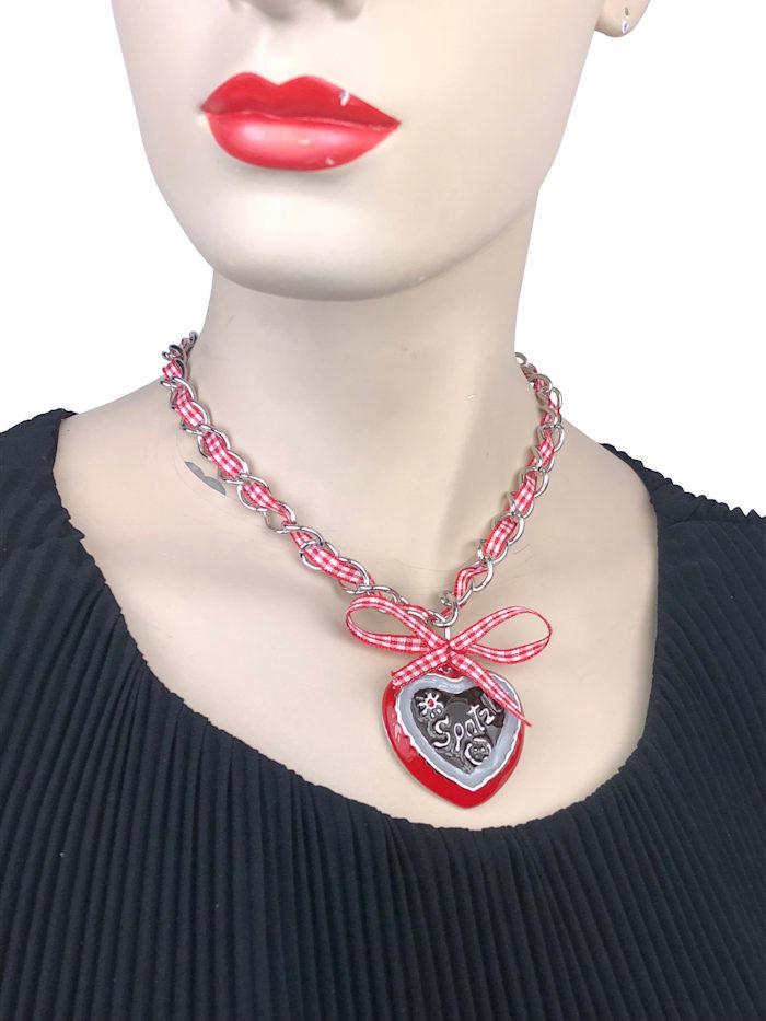 Halskette Dirndl Resi mit Herzanhänger